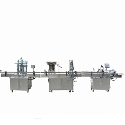 Αυτόματη γραμμή συσκευασίας ρευστών γάλα, αριάνι, νερό, χυμούς φρούτων, λαχανικών, ποτά, διαλυτικά, χρώματα