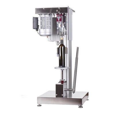 Ημιαυτόματο βιδωτικό μηχάνημα μεταλλικών καπακιών λάδι, κρασί, τσίπουρο, ούζο