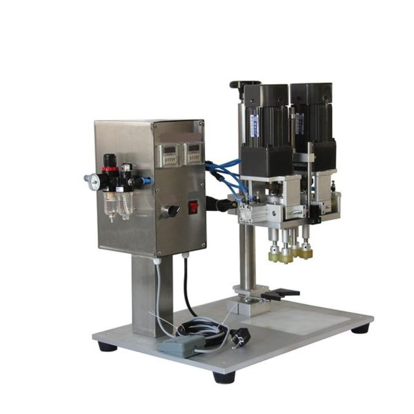 Semi automatic capping machine with 4 rauls for plastic caps
