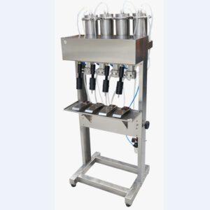 Ημιαυτόματο γεμιστικό μηχάνημα στάθμης εν κενώ υγρών κρασί, ποτά, χυμοί, αρώματα