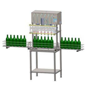 Ημιαυτόματο γεμιστικό μηχάνημα στάθμης υγρών χυμοί τσάι κρασί ποτά αρώματα καθαριστικά χημικά
