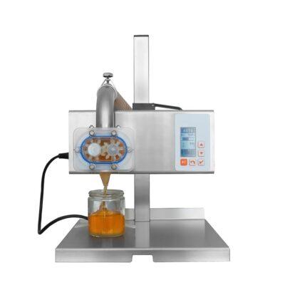 Ημιαυτόματο δομομετρικό μηχάνημα παχύρρευστων μέλι, μαρμελάδα, ρυζόγαλο, ταχίνι, κρέμες, σιλικόνη, χημικά