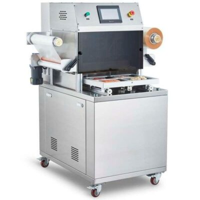 Ημιαυτόματο μηχάνημα θερμοκόλλησης vacuum skin φρέσκα φρούτα, λαχανικά, ψάρια, ξηροί καρποί, καφέ, κατεψυγμένα
