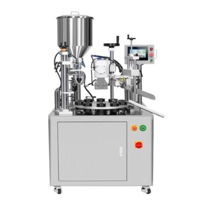 Automatic rotary ultrasonic filling sealing machine for viscous products in plastic tubes